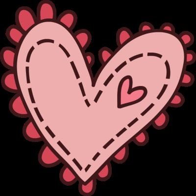 Cute Cartoon Hearts Clipart.