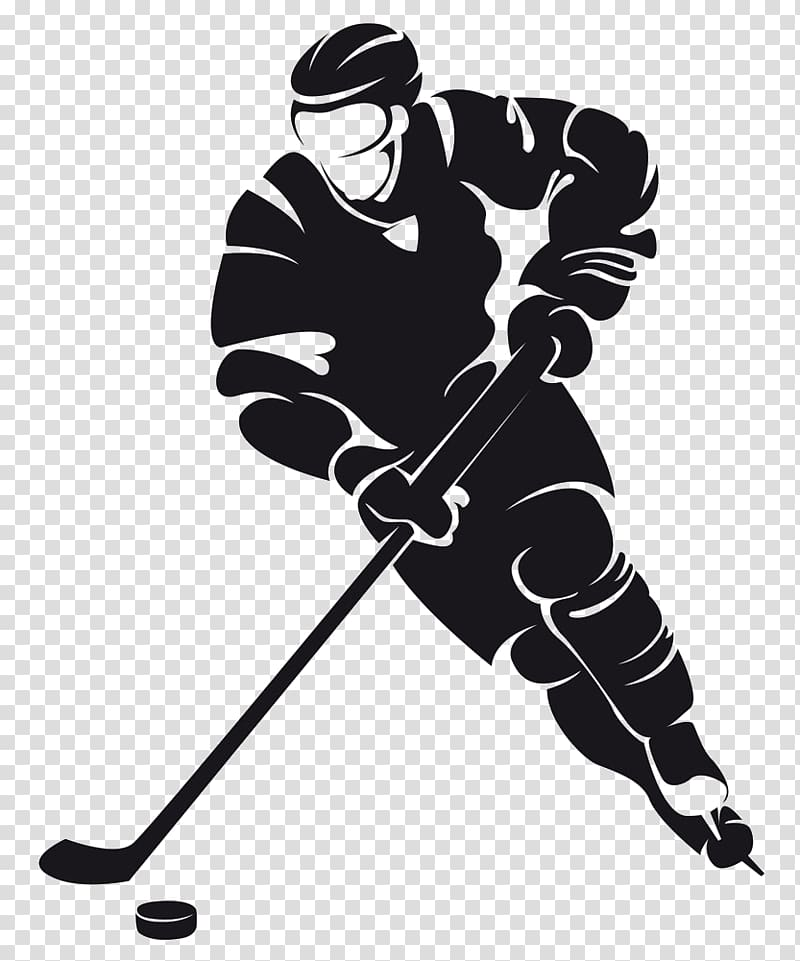 Ice hockey player , Wall decal Ice hockey Sticker, Cartoon.