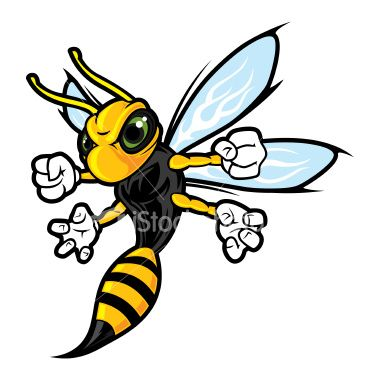 cartoon pictures of wasps.