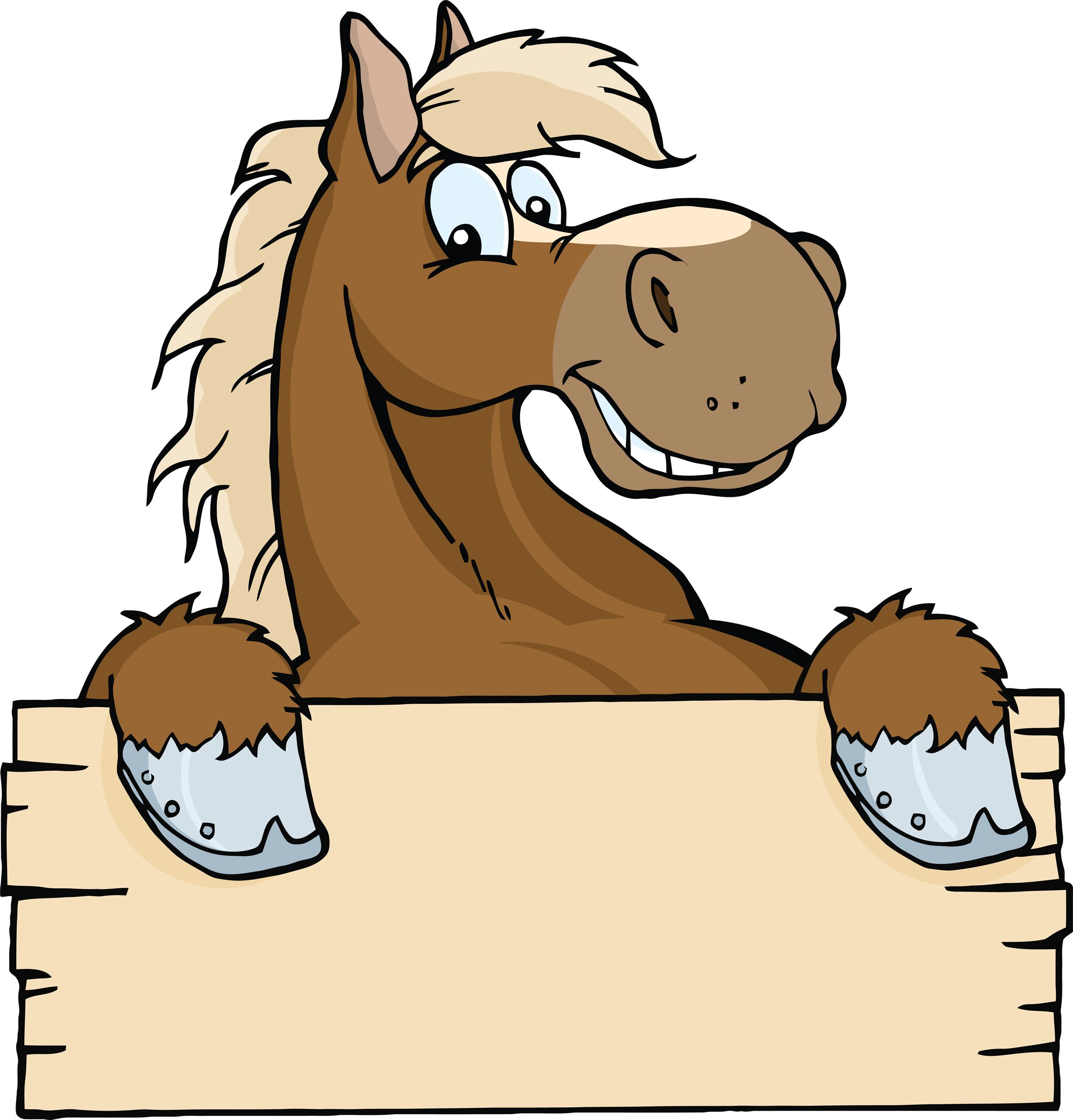 Cartoon Horse Head.