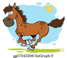 Horse Cartoon Clip Art.