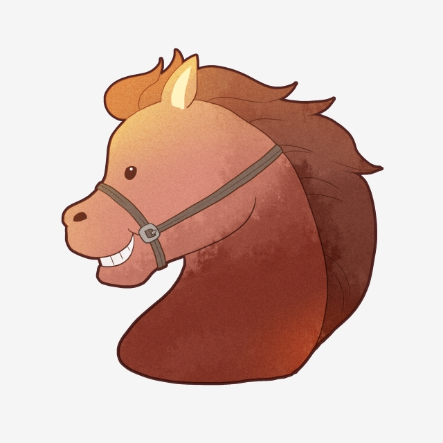 Cartoon Horse Head Material Design, Cartoon Horse Head, Horse Head.