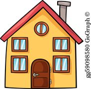 Cartoon House Clip Art.