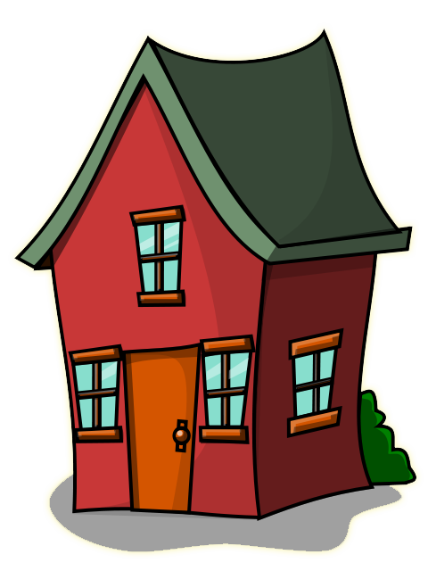 Free Cartoon House Clipart.