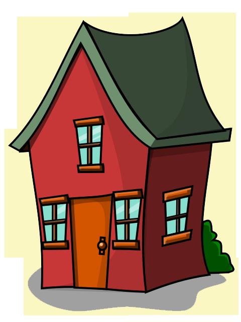 Free Cartoon House Clipart.