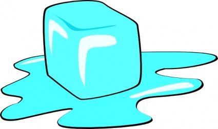 Ice Cube clip art free vector.