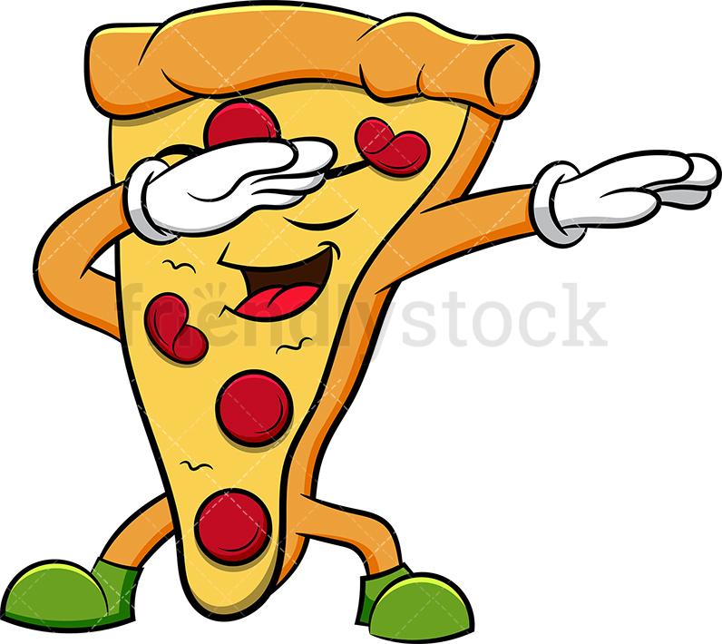 A Dabbing Pizza Slice.