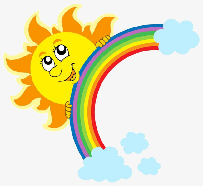 Download Free png Cartoon Sun Rainbow, Sun Clipart, Cartoon Clipart.