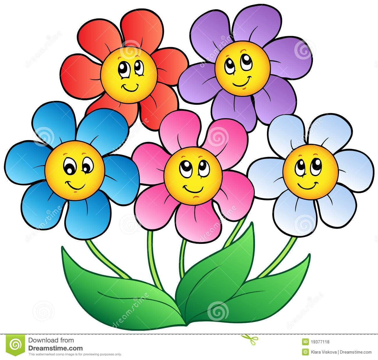 Cartoon Flowers Pictures Images.