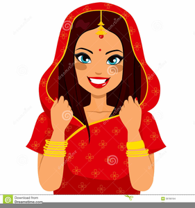Cartoon Indian Women Clipart.