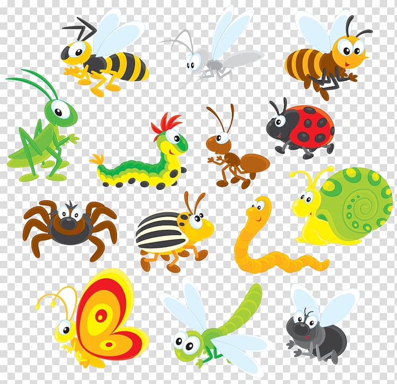 Insect Cartoon , Insect transparent background PNG clipart.