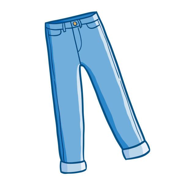 cartoon jeans clipart #9