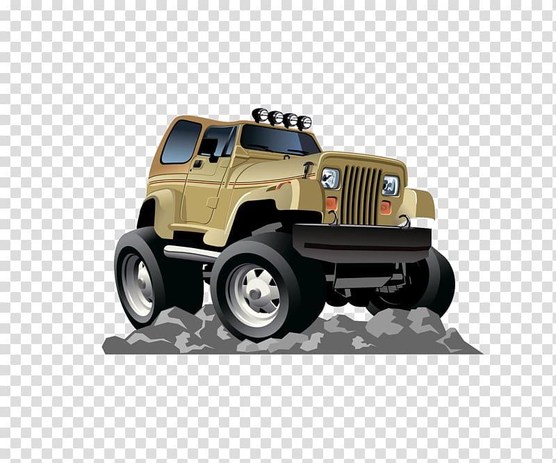 Jeep Cartoon , Cartoon jeep transparent background PNG.
