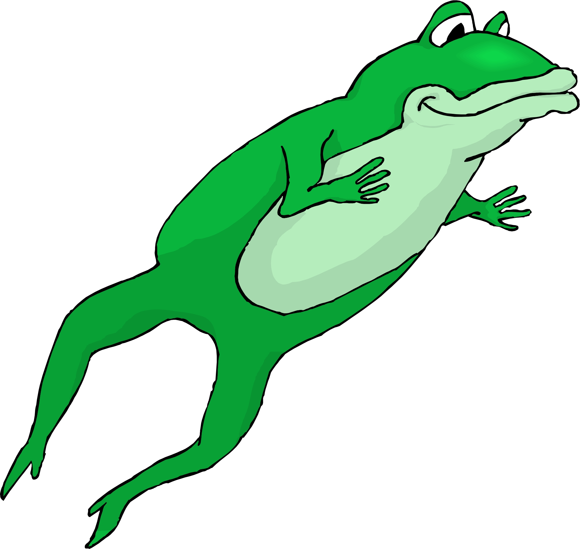Cartoon Jumping Frog.