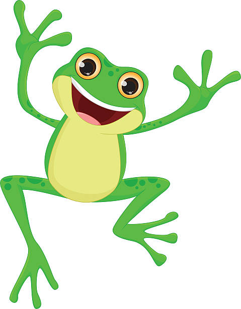 Jumping Frog Clip Art, Vector Images & Illustrations.