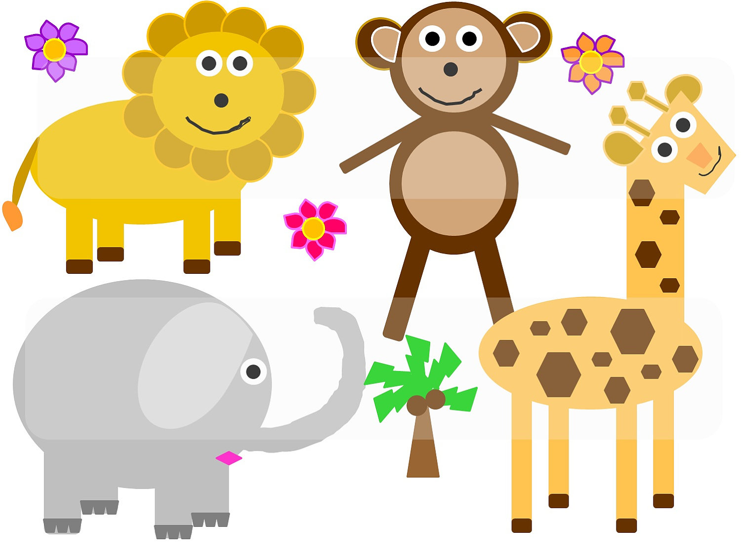 Cartoon Jungle Animal Clipart.