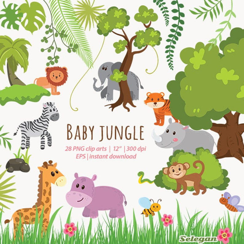 Jungle Animals Clipart,