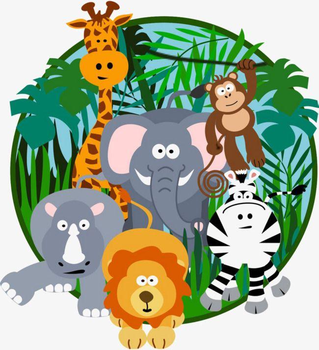 Cartoon Jungle, Jungle Clipart, Cartoon Clipart, Cartoon PNG.