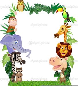 Free Cartoon Jungle Animal Clipart.