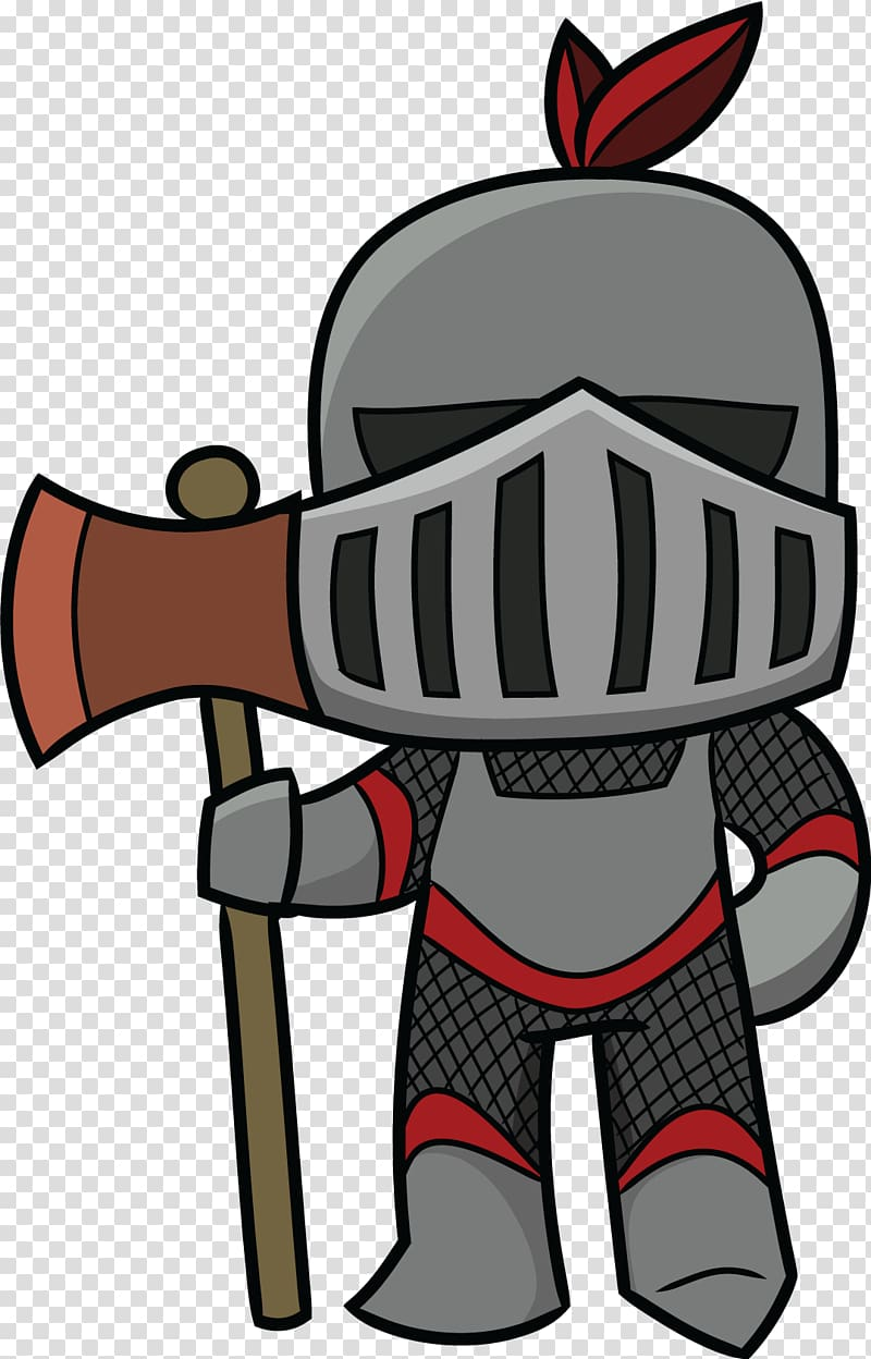 Black and gray knight illustration, Middle Ages Knight.