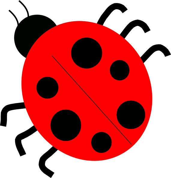 Red Ladybugs Clip Art at Clker.com.