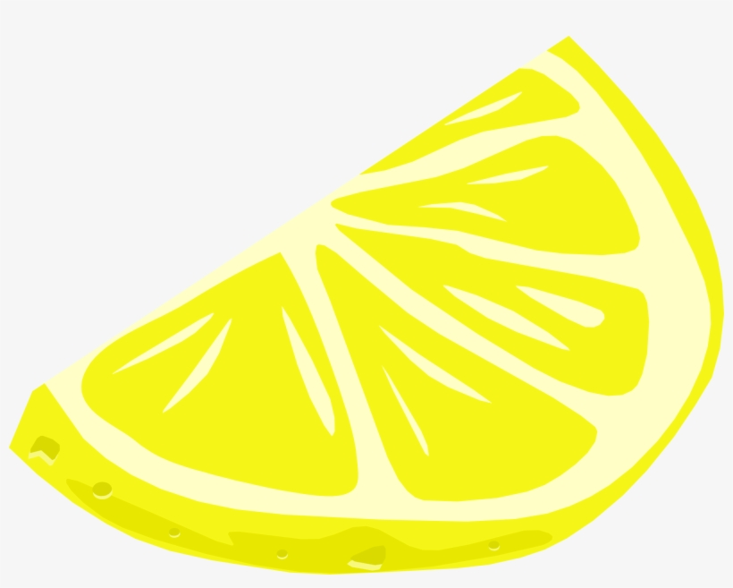 Drawing Of A Slice Of Juicy Lemon.