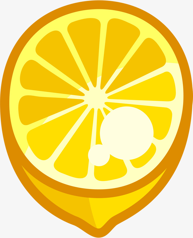 Yellow Cartoon Lemon, Cartoon Clipart, Lemon Clipart, Yellow PNG.