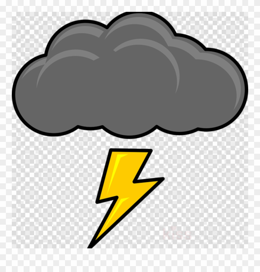 Cartoon Thunder Cloud Clipart Cloud Lightning Clip.