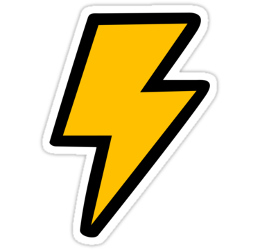 Cartoon Lightning Bolt Png Image Vector, Clipart, PSD.