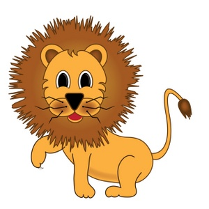 Cartoon Lion Clipart.