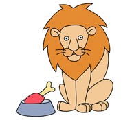 lion eating clipart #20