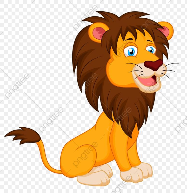 Cartoon Lion, Lion Clipart, Cartoon Clipart, Lion PNG Transparent.