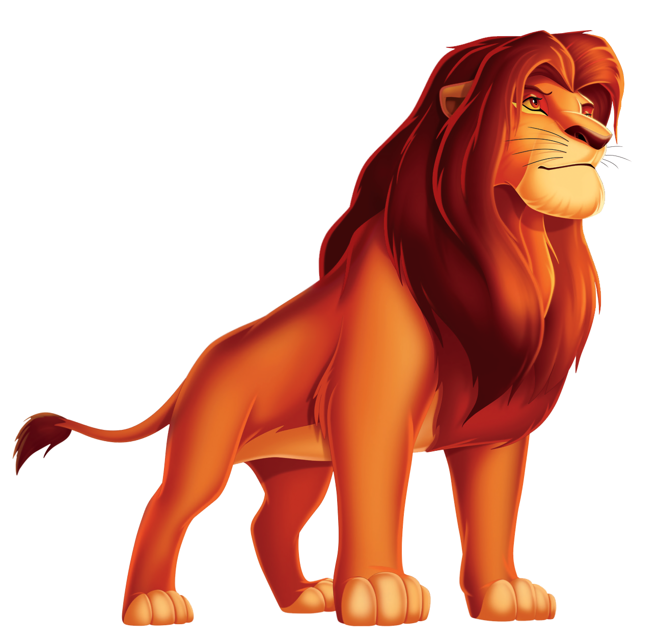 King Lion Cartoon PNG Picture.
