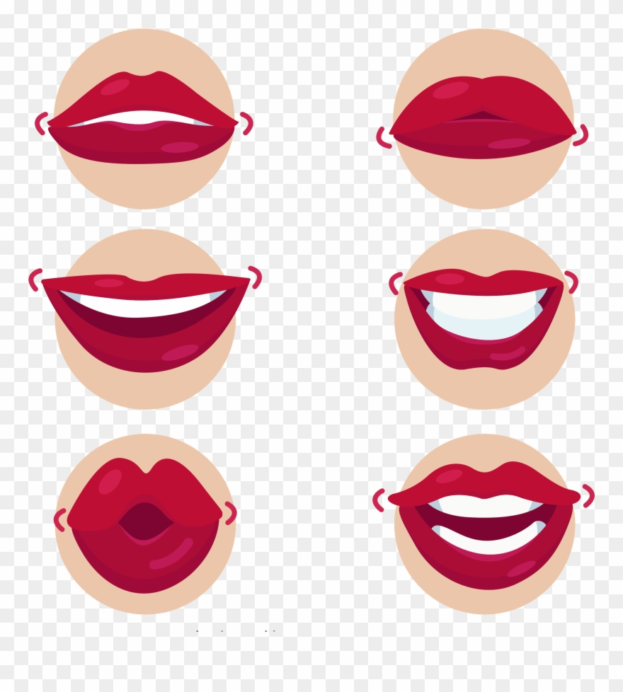 Mouth Kiss Cartoon Lips Transprent Png Free.