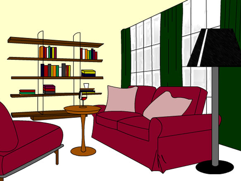 Living Room Clipart.