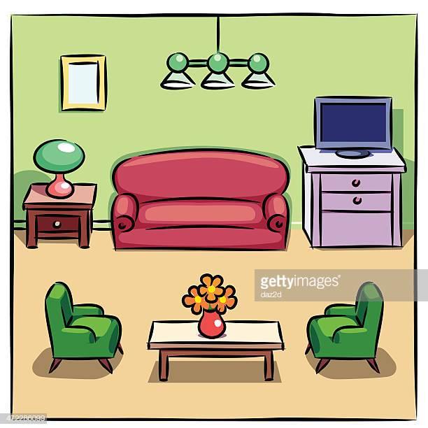 30 Top Living Room Stock Illustrations, Clip art, Cartoons, & Icons.