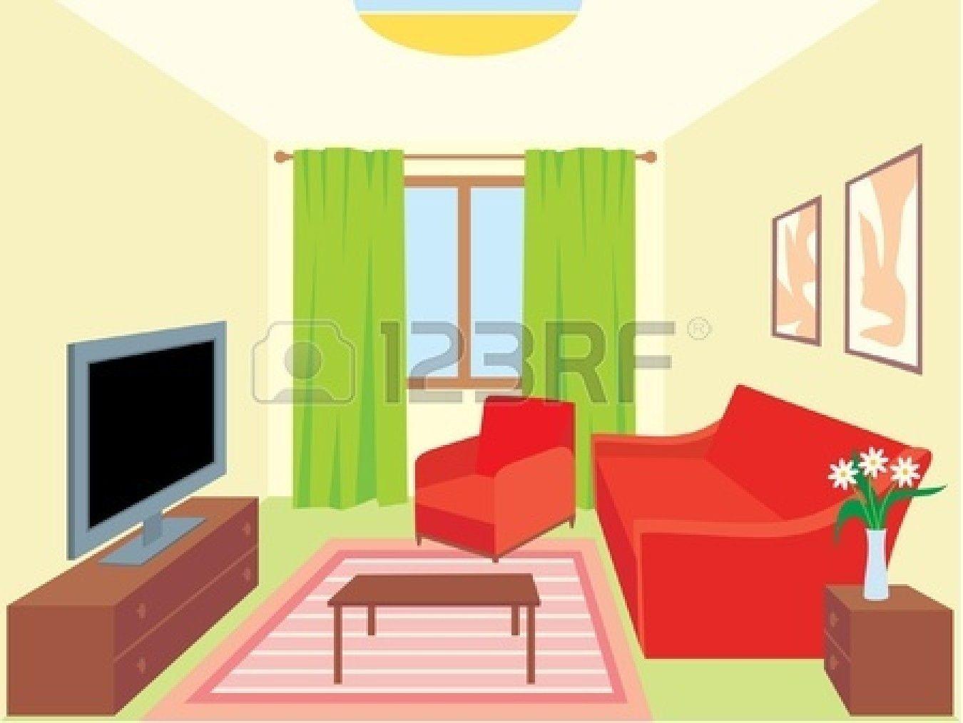 cartoon interior house.