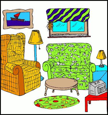Cartoon Living Room Clip Art.
