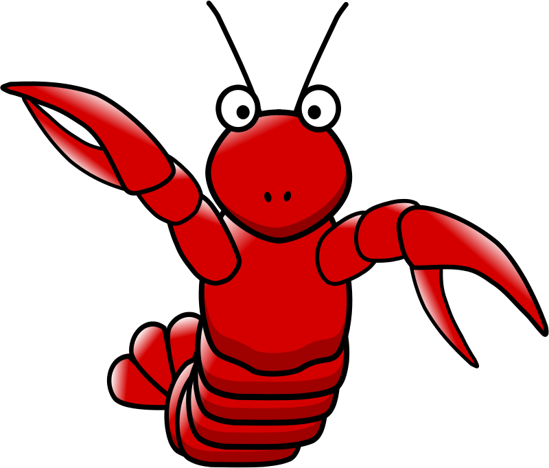 Free Clipart: Cartoon lobster.