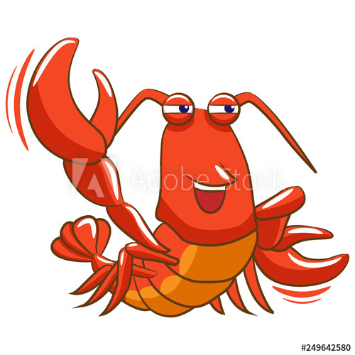Lobster clipart cartoon.