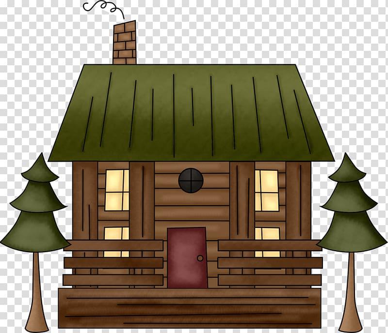 Log cabin Cartoon Cottage Drawing , cartoon house.