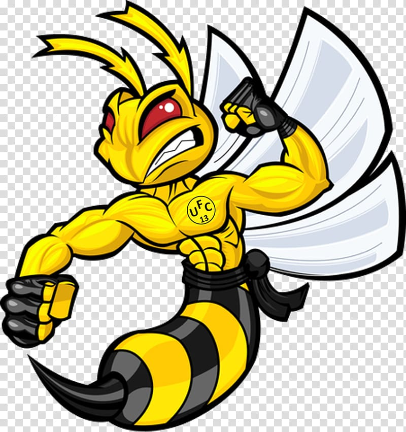 Hornet Logo Drawing, cartoon logo transparent background PNG.
