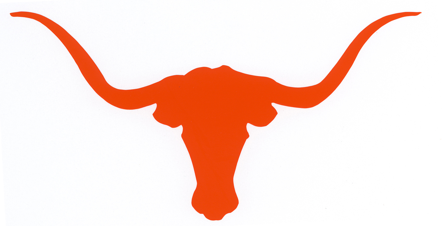 Cartoon Clipart Picture of a Skinny Longhorn Cow.