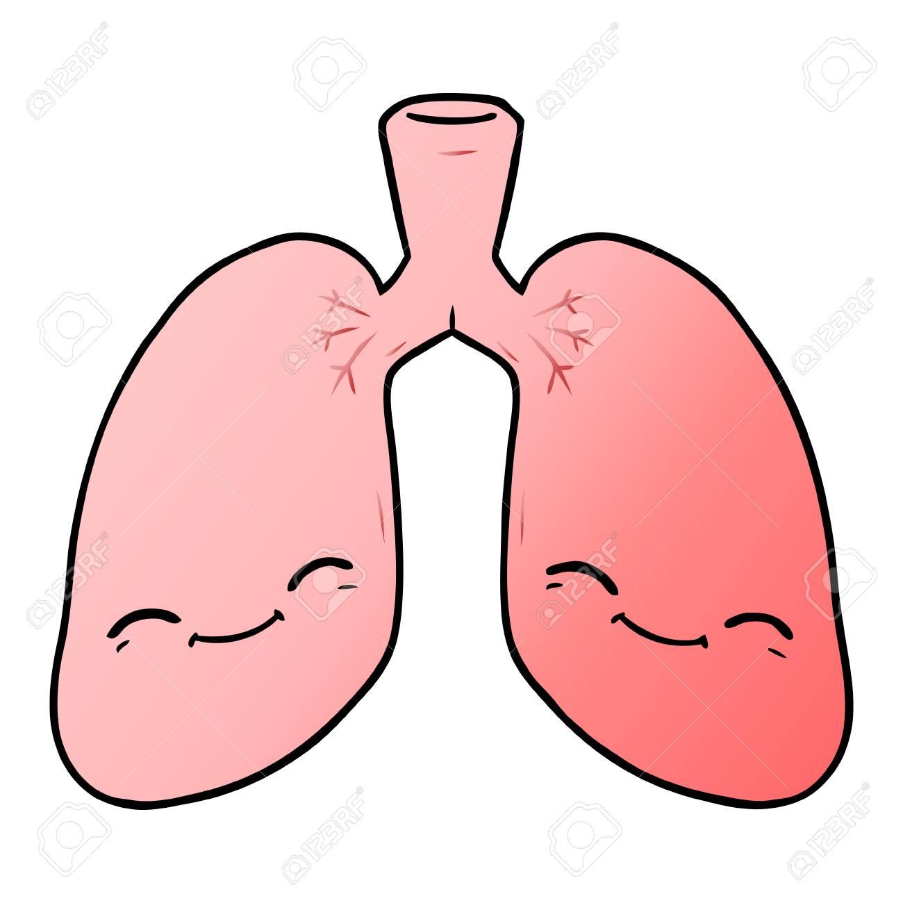 cartoon lungs illustration design..