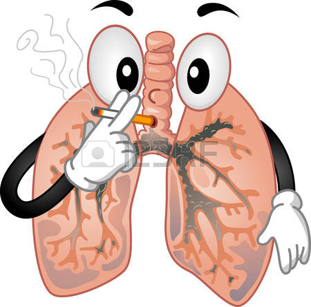 Unhealthy Lungs Clipart.