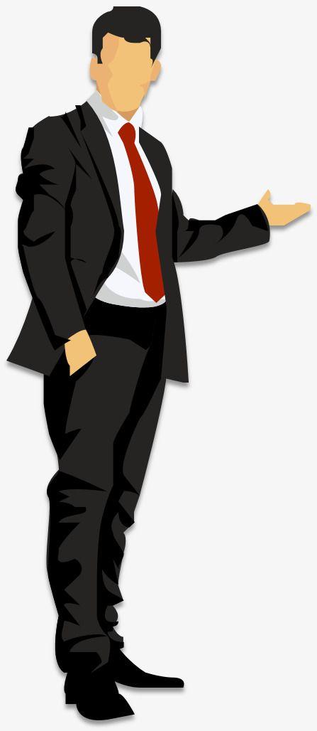 Cartoon Business Man Man, Cartoon Clipart, Business Clipart, Man.