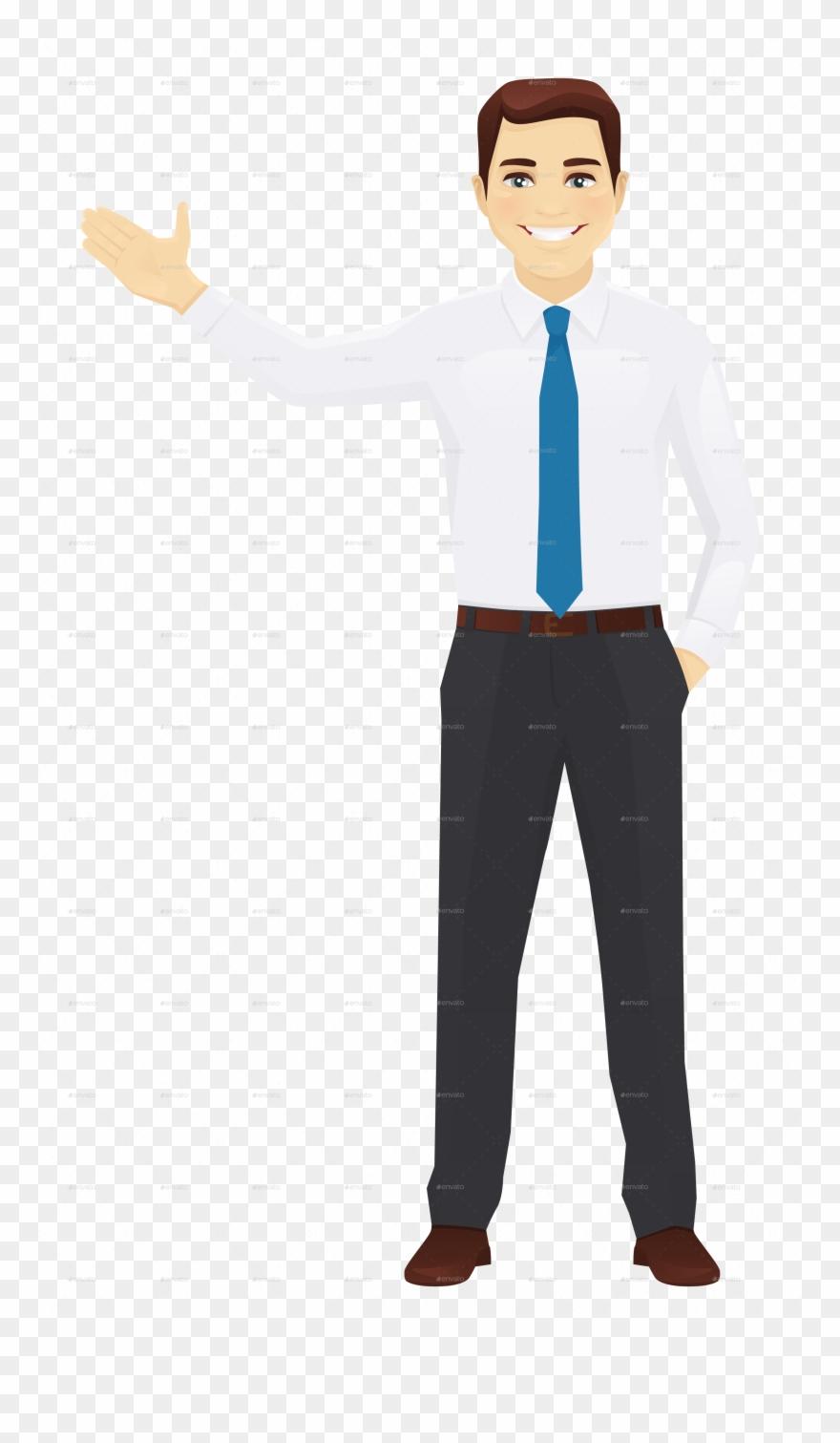 Vector Office Man Standing.