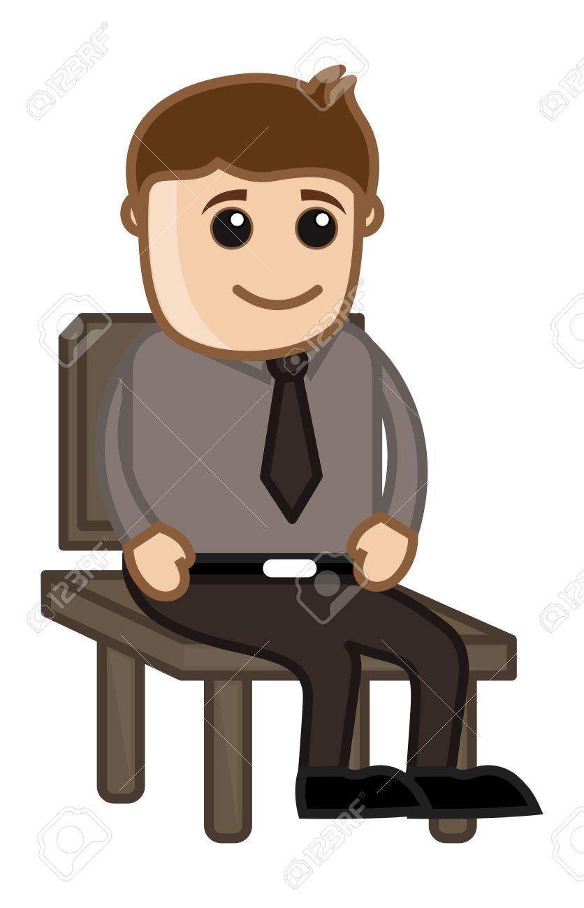 Cartoon Man Sitting Clipart Clipground