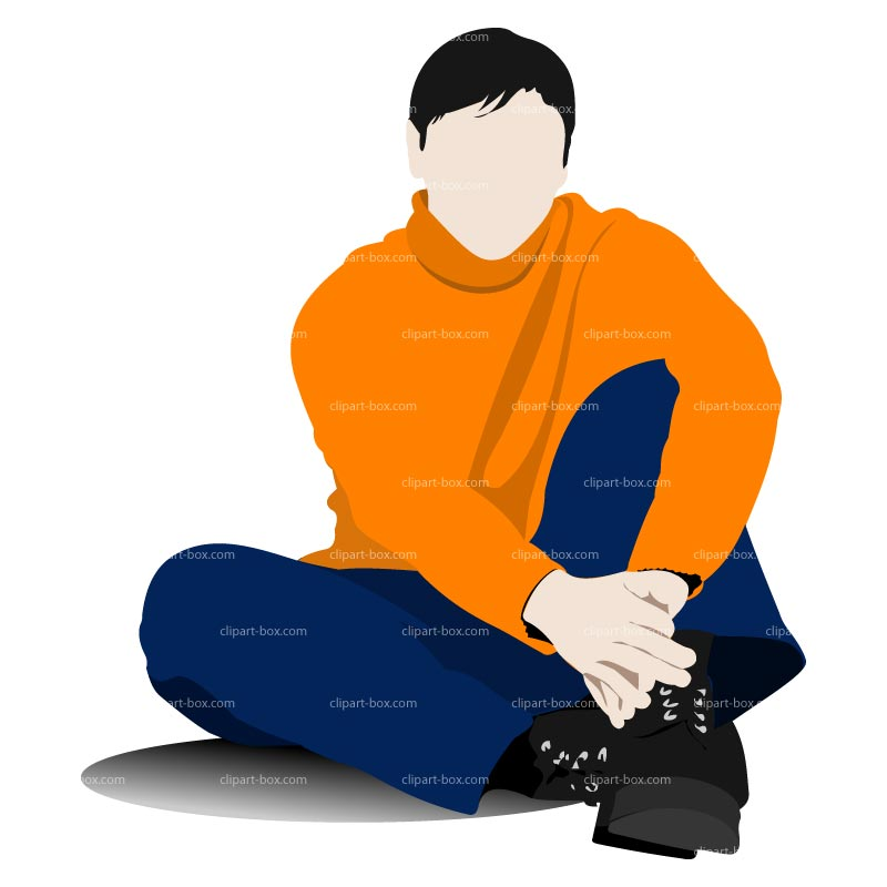 Sitting Man Clipart.