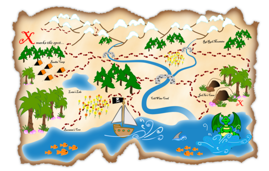 Map Cartoon clipart.